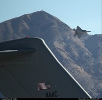 F-22 Raptor over Nellis AFB