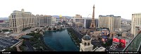 Las Vegas strip from cosmopolitan' balcony. Cool thing by the way to have an open outdoor view from an hotel room in LV !!