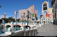Las Vegas : Treasure Island from the Venetian resort, and it typical canal.
