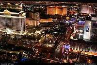 The Strip, from the top of the Eiffel Tower at casino Paris.