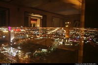 Night overwiew from encore wynn hotel room at las vegas. In front the trump tower, and to the left the strip. because of crisis you can add very big deal with lodging in vegas.
