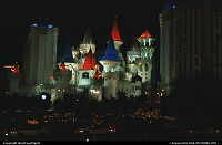 Las Vegas : Excalibur Casino, built in 1989 and once the largest hotel on earth. A that time, waht we know now as the strip was alsmost desert!