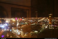 Night overwiew from encore wynn hotel room at las vegas. In front the trump tower, and to the left the strip. With crisis you can add very big deal with lodging in vegas