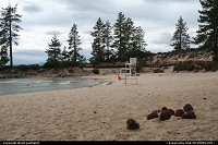 Not in a city : Sand Harbor beach at Lake Tahoe.