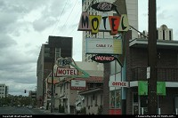 Reno : Very cool, vintage signs in you ask me. A very nice 60's looking, I like it. Reno is another gambling experience. very different for the Strip in Las Vegas.