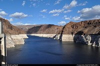 not in a city : Le lac mead depuis le Hoover Dam