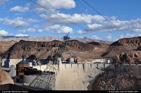not in a city : The Hoover Dam complex (part of from the roof of the parking lot. Close to the Mike O'Callaghan – Pat Tillman Memorial Bridge. Project I93 bypass