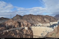 Overview of the Hoover Dam complex, close to the Mike O'Callaghan – Pat Tillman Memorial Bridge. Project I93 bypass. The dam sits right on the Nevada/Arizona border. Look how hostile the environnement is. That construction is an engineering marvel.