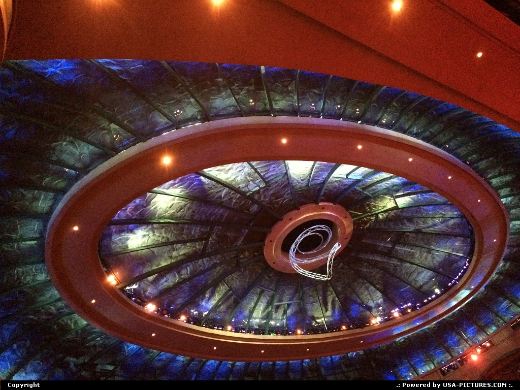 Picture by elki:Las VegasNevadaO by cirque du soleil. roof of the teather
