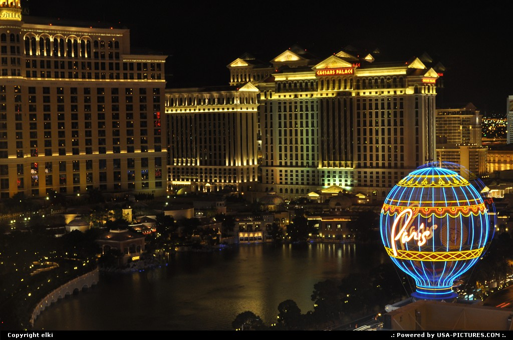 Picture by elki: Las Vegas Nevada   Las vegas strip,paris, planet holywood, ph, bellagio