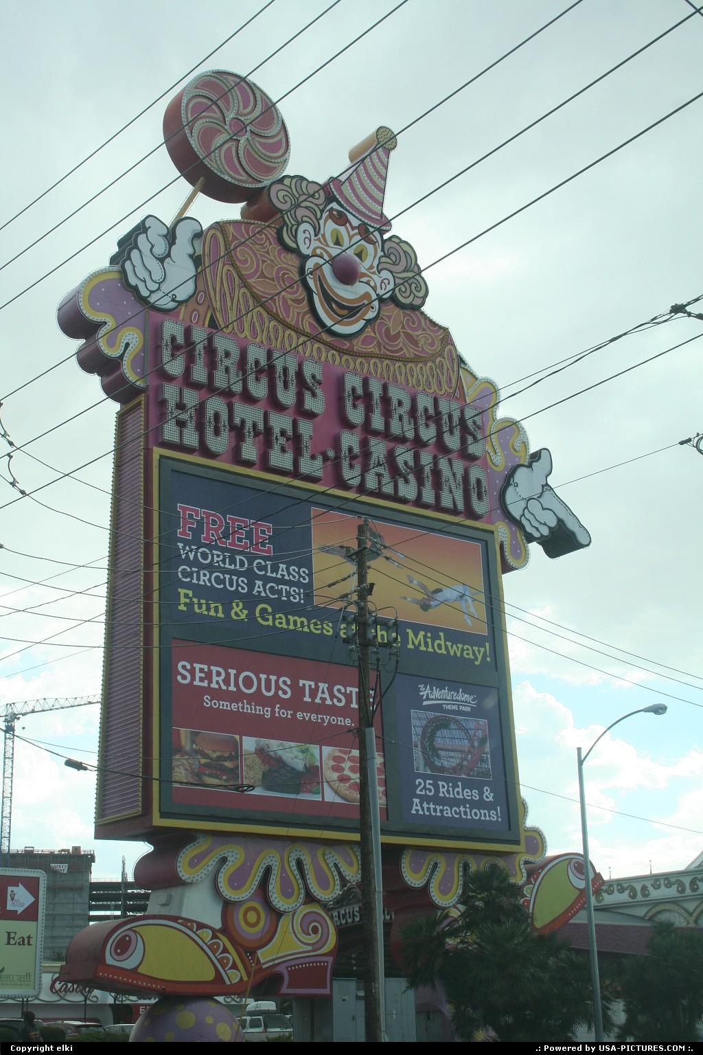 Picture by elki:Las VegasNevadalas vegas circus circus