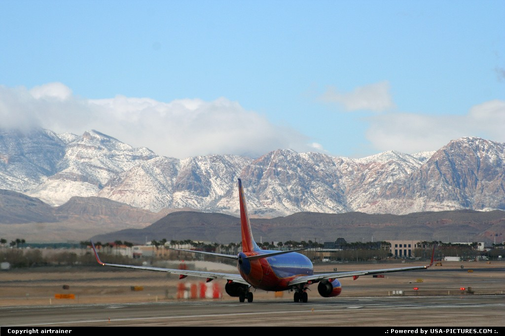 Picture by airtrainer: Las Vegas Nevada   airport, boeing, southwest