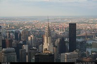 New-york, New york, manathan overview from the empire state building. Chrysler building on front