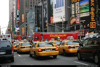 Time square, and still yellow cabs
