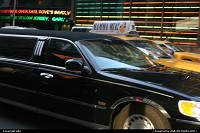 New york Time square, cabs and limousines