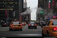 New-york, Steam, yellow cabs and trafic. Welcome in New York City
