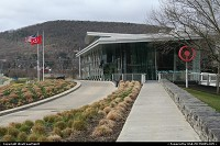 Another view of the Corning Museum of Glass. It presenets one the world's most comprehensive collections of glass, from antiquity to the present.