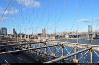 New York : Manathan view from Brooklyn bridge