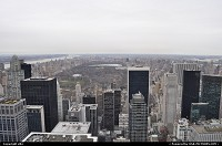 Uptown Manathan from the top of Rockfeller center. See how long central park is !!