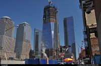 New York : One World Trade Center construction project moving now steady and full steam. Almost 10 years after 9/11, the block is reinventing itself and the result is indeed impressive. Go on New York City!