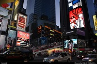 New York : Love the color palette in Times Square by evening. Scene here is always different, albeit impressive at the infernal pace of new ad campaign. New York Style Baby!