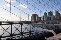 Photo by elki | New York  Brooklyn bridge manathan