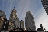 Le Woolworth Building reste avec son architecture neo gothique un des building le splus celebre des USA. Il fut dessine par Gilbert il y a quasiment 100 ans.