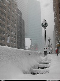 , New York, NY, NYC after a snowfall historical