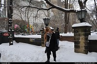 New York : Central park south entrance under fresh snow