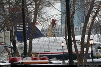 US Airway's A320 aircraft recovered from his force landing in hudson river on 15 january 2009 after hit birds, following his take off from La Guardia airport in New York. It was park at battery park. Nobody dies in this spectacular accident. Pilot Skiles and his crew, becoming nation heroes from this time.