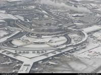 L'ancien TWA flight Center, dessiné par Eero Saarinen dans les années 60. Ce terminal est maintenant le JetBlue flight Center. Le bâtiment est classé depuis 1994. Ici quelques secondes après notre décollage pour Washington pour l'investiture de Barack Obama.