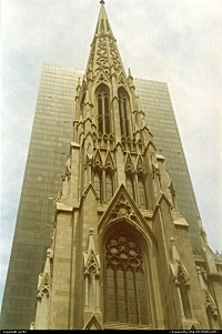 At time church spires can get the best on otherwise taller buildings as far height is concerned ....