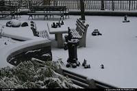battery park sous la neige