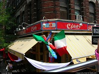 Photo by Bernie | New York  restaurant, flag, Italy