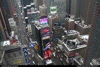 New-york, Times Square from above, here seen from a Marriott Hotel room.