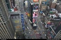New York : View Of times square from marriott Hotel