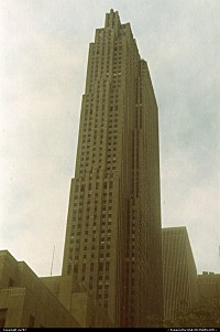 Rockfeller Center's tallest landmark.