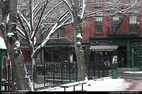 Greenwich Village under the snow