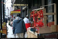 A somewhat primtive/homemade stall among many others in Chinatown.