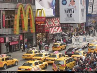 New York : Very typical sight in Times Squares, NYC