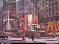 New York : The world famous Times Square under the snow. We had 2 inches of fresh snow that day.