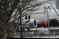 New-york, US Airway's A320 aircraft recovered from his ditching in Hudson river on 15 january 2009 after presumably a dual bird strike, following it take off from La Guardia airport (LGA) in New York. The plane was then put on a barge at battery park. There was no fatality in the crash, which is an achievement, mostly due to the crash by itself, but also due to the fact that the plane was forced to ditch in cold/almost freezed water. Captain' Chesley B. Sullenberger (58 and nicknamed