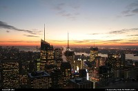 Photo by elki | New York  New york manathan sunset