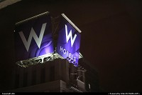 New York : W hotel sign @ times square