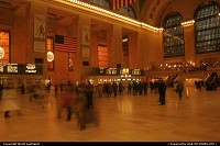Grand Central Terminal, midtown in Manhattan. This train station is the terminal for numerous commuters lines. Located between 42th street and Park Avenue. Chrysler Building and Met Life Building -former Pan Am building- are also on this neighborhood.