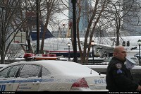 US Airway's A320 aircraft recovered from his ditching in Hudson river on 15 january 2009 after presumably a dual bird strike, following it take off from La Guardia airport (LGA) in New York. The plane was then put on a barge at battery park. There was no fatality in the crash, which is an achievement, mostly due to the crash by itself, but also due to the fact that the plane was forced to ditch in cold/almost freezed water. Captain' Chesley B. Sullenberger (58 and nicknamed