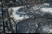 Central park view from helicopter