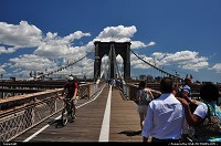 New york : Walking accross the Brooklyn Bridge in the heat of July. More about the bridge here on Wiki: http://en.wikipedia.org/wiki/Brooklyn_BridgeNew York city at its best!
