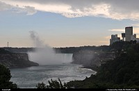 Niagara Falls, Canadian side, in late afternoon.