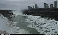 Niagara Falls from the USA. Too much, too tall building in the Canadian shore if you ask me...